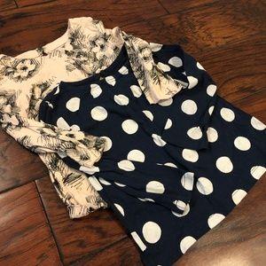 Gap Bundle x2 -- Toddler Girls Shirt, sz 12-18m